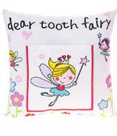 Tooth Fairy Cushion With Pocket For Tooth/Reward White....